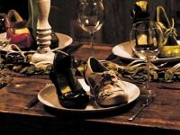 Schuhe zum Essen